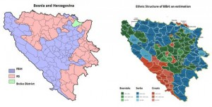 Map 1.Political and Ethnic Divisions in Bosnia and Herzegovina
