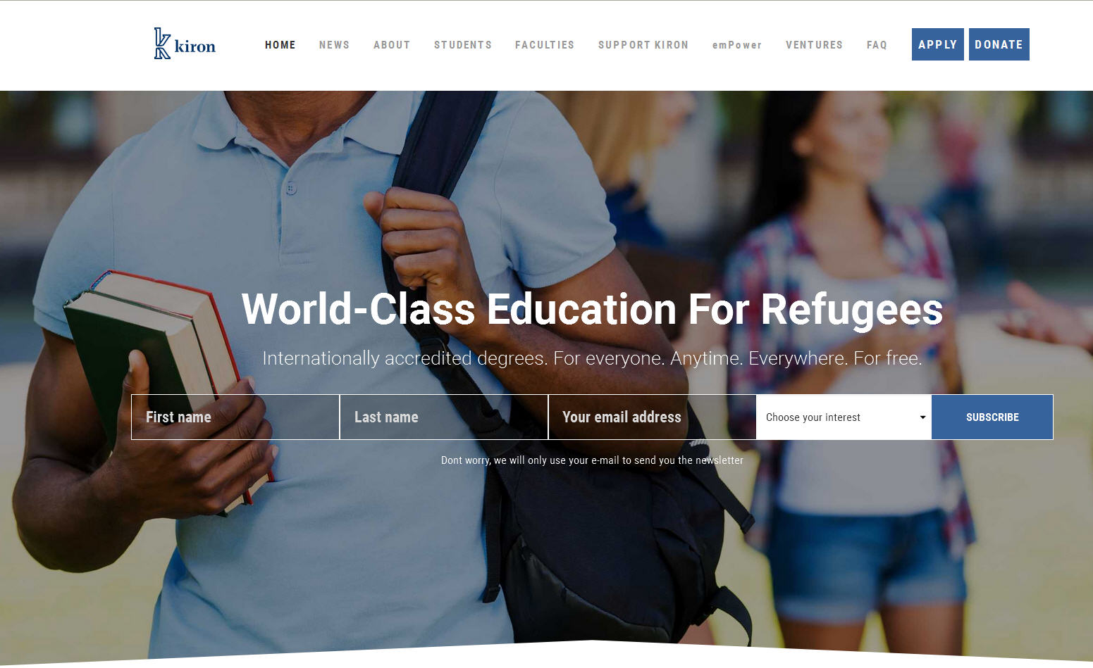 University responses to refugee crisis in Europe